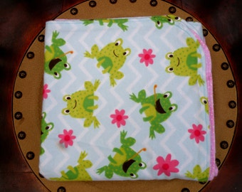 Friendly Frogs Baby Blanket