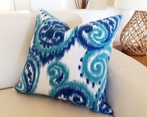 Paisley Cushions Teal Blue Pillows Scatter Cushion, Green Accent Pillow, Cushion Covers, Blue, Teal Toss Cushions, Decorative Pillows.