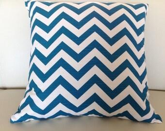 Zig Zag Cushions, Chevron Pillows Modern Cushion Teal, Green, Orange, Pink, Black, Navy, Purple, Red, Yellow Cushion