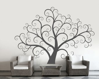Wall decals for living room Winter Tree Decal Stick On Wall