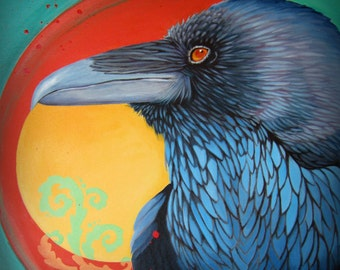 RAVEN VORTEX - raven, crow, native american, indian, corvid, love