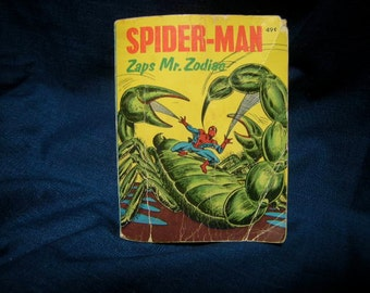 vintage little big book-spider man-collector-Whitman book-comic book-