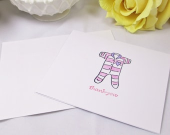 Thank You Cards Baby - Baby Cards - Baby Shower Cards - Welcome Baby Cards - Baby Girl Cards - Baby Thank You Note Cards - Pink Baby Shower