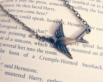 Pretty Swallow Bird Necklace