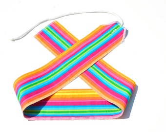 Rainbow Stripes - Weight Lifting Wrist Wraps