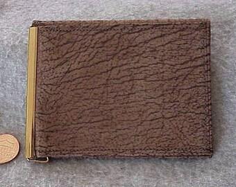 New Authentic Vintage SWANK Men's Bi-Fold Billfold WALLET Buffalo Calfskin