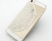 H12 - Plastic Case Cover For Iphone 5 5s Henna Lotus Mandala