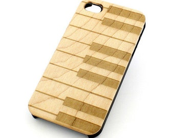 W105 Wood Case for Apple Iphone 5C - Piano Keys