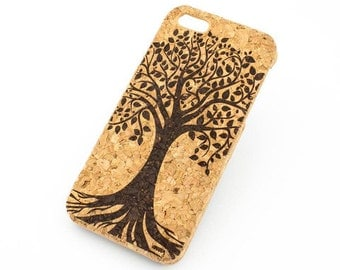 C-110 Cork Case For Apple Iphone 5/5S Tree Of Life