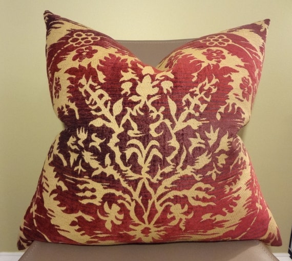 Red And Beige Decorative Pillows : Decorative Pillow Cover Soft & Beautiful Red Beige by BaronessLala