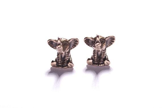 TWO Elephant charms - Antique bronze pendants for necklaces, earrings or bracelets