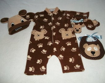 Teddy Bear Baby Outfit