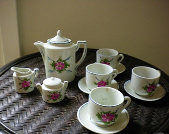 Child's flowered Ceramic German Tea Set