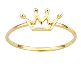 Crown 14k Solid Gold Ring  Best Price