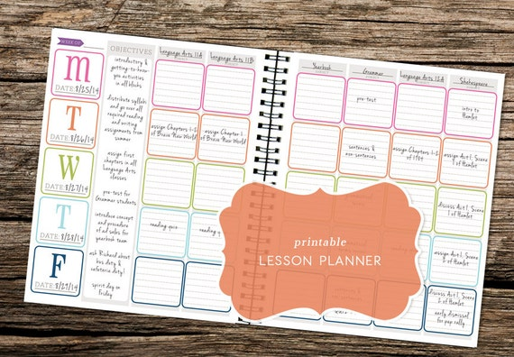 Printable 2015-2016 Lesson Planner Kit - Great for teachers, students ...