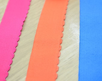 1.5 inch 38mm wide Comfortable Plush Waistband Elastic Band by the Yard, Elastic Trim, Sewing Elastic,