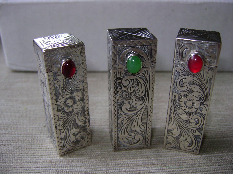 Lipstick holders mirror italian silver vintage by vintagetrue for Mirror holders