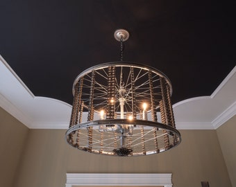 Bicycle Rim Chandelier
