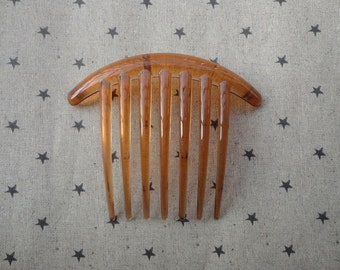 100pcs plastic Hair Combs (7 teeth)--brown clear plastic hair comb 105x85mm  HA47