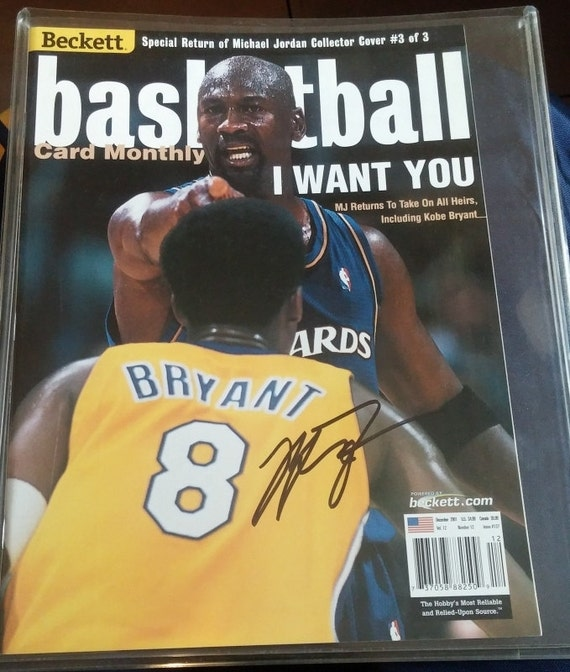 Michael Jordan Autographed Collector Cover Signed with Kobe Bryant Issue #3 of 3 RARE