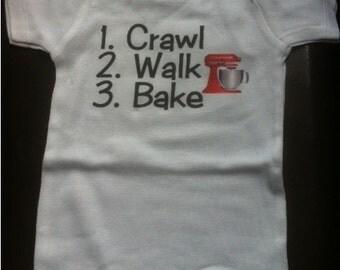 baby baker shirt, infant baker, future baker, i love to bake, funny baking shirt, baking gift, baking clothes, baking clothing
