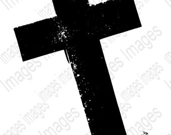 Cross Clipart  Image Black and White Digital Images for Instant Download  Add to T Shirts Jackets Posters Coffee Mugs for Holiday