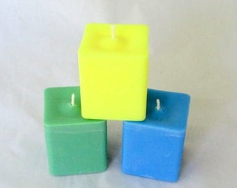 Square candle, choose scent, square votive candles, scented soy candle, soy votive, square votives, scented candle, pillar candle