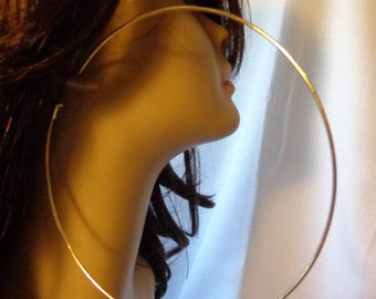 EXTRA LARGE Hoop Earrings 5 inch Hoop Earrings Gold Plated 140mm hoop earrings