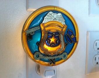 Police Night Light with  4 watt  on/off switch