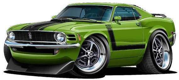 Ford Mustang Shoes >> 1970 FORD MUSTANG BOSS 302 vinyl decal wall graphic