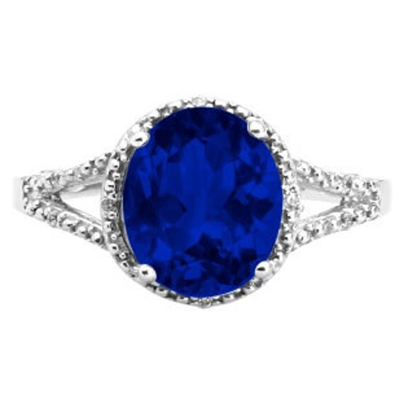 Oval Sapphire White Gold Ring