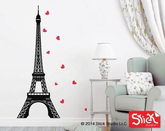 eiffel tower wall decal, Eiffel Tower wall art, Paris wall decal, Paris wall art, Wall decal Eiffel Tower, Paris mural, eiffel tower sticker