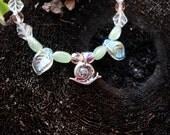Garden Snail & Leaf Bracelet