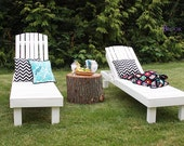 Simple outdoor chaise lounge