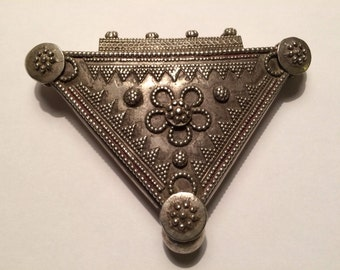 Vintage silver pendant from India