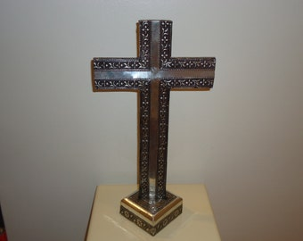Beautiful Large Aluminum Mantle Cross