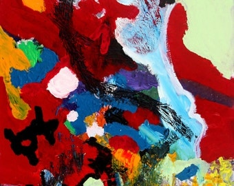 Original 70x100cm abstract freestyle painting named Halcyon #3
