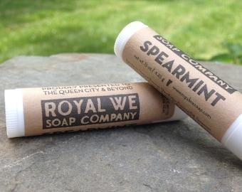 Spearmint Lip Balm - All Natural Lip Balm, Handmade Lip Balm, Mens skincare