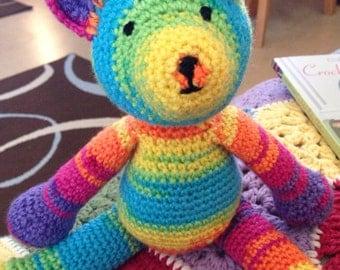 Rainbow Teddy Bear