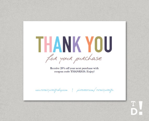 business thank you cards template instant download naturally. Black Bedroom Furniture Sets. Home Design Ideas
