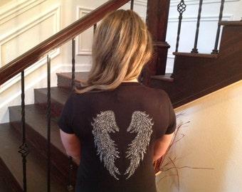 Angel Wings Rhinestone Shirt