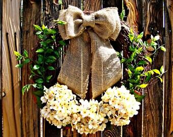 Rustic Garden Wreath - Wreaths - Door Wreath - Year Round Wreath - Grapevine Wreath -