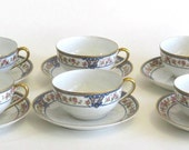 Reserved Item for Rubygirls - Noritake Nippon  Cup and Saucer x 6 - The Malay Pattern