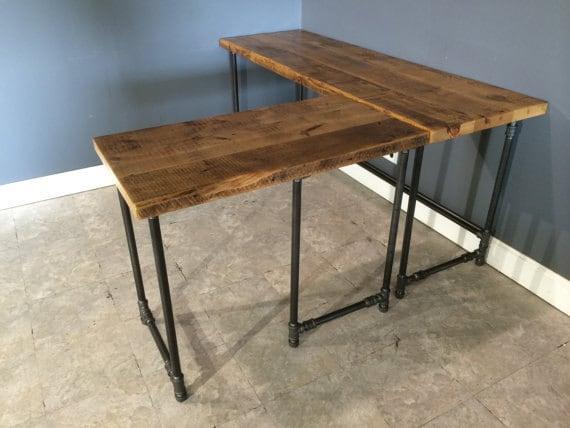 reclaimed urban wood computer l shaped by urbanwoodfurnishings. Black Bedroom Furniture Sets. Home Design Ideas