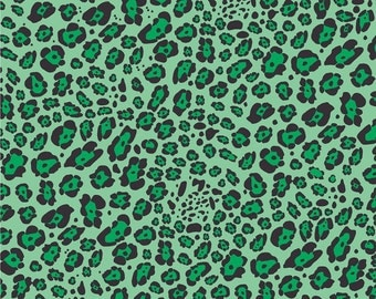 Green leopard craft  vinyl sheet - HTV or Adhesive Vinyl -  green and black pattern vinyl   HTV231