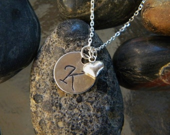 Initial Sterling Silver Charm Necklace
