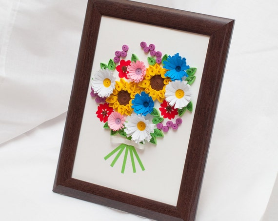 Beautiful Quilled Picture Framed Wall Art Paper By