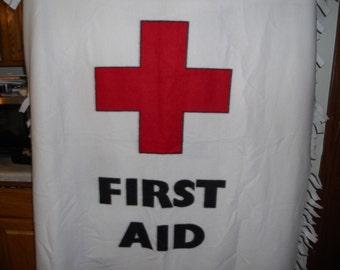 First Aid fleece throw