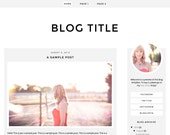 Premade Blogger Template (Instant Download) - Blog design - Simple, minimalist, modern, clean - White, gray - Responsive