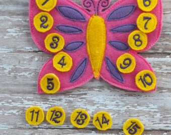 Butterfly Count the Spots Learning set Butterfly with 20 spots labeled 1 through 20